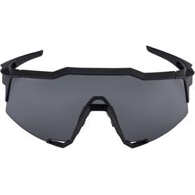 100% Speedcraft Lunettes Grand, soft tact black | smoke lense